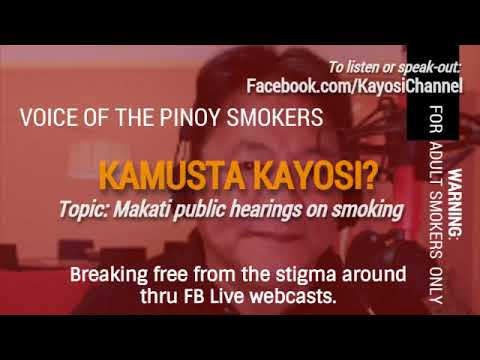Second Episode Public Hearings on Smoking in Makati City