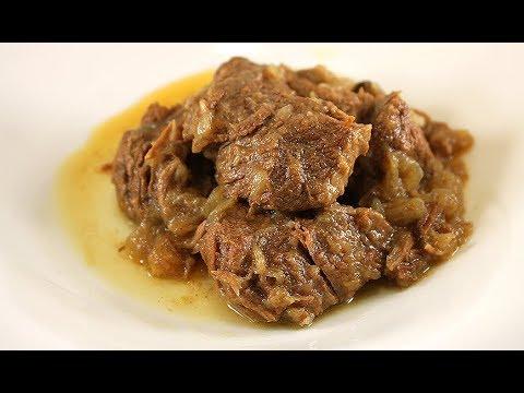 Изумительное Мясо Томленое в Луковом Соусе/Оно Просто Тает во Рту/GENOVESE