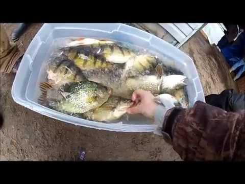 Full download catching jumbo perch on devils lake for Lake gogebic ice fishing