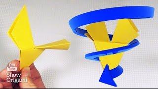 Оригами #вертушка из бумаги.  Как сделать вертушку из бумаги своими руками