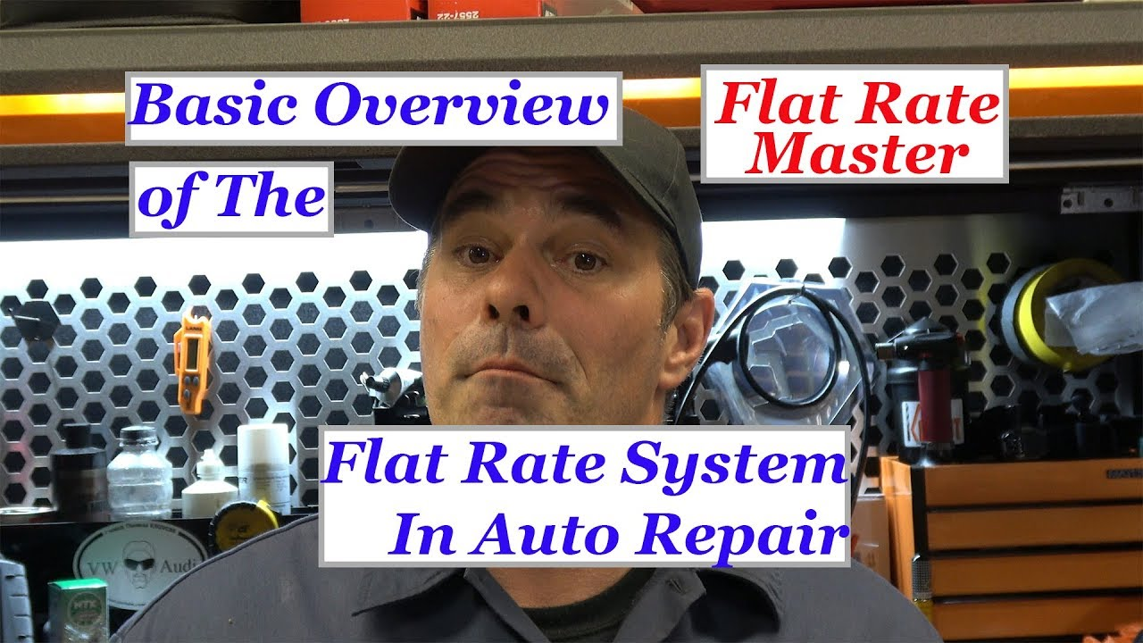Basic Over View Of The Flat Rate System In Auto Repai