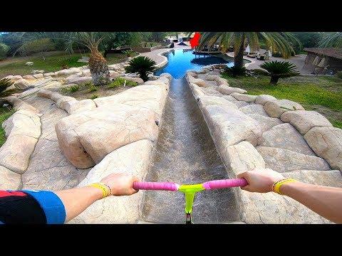 top-speed-down-waterslide-into-pool!