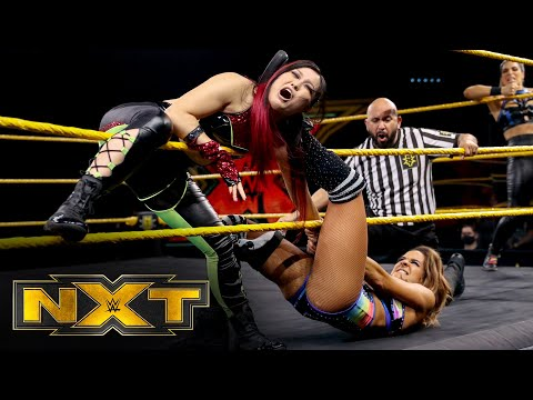 NXT Women's Champion Io Shirai & Rhea Ripley vs. Dakota Kai & Raquel González: WWE NXT, Aug 26, 2020