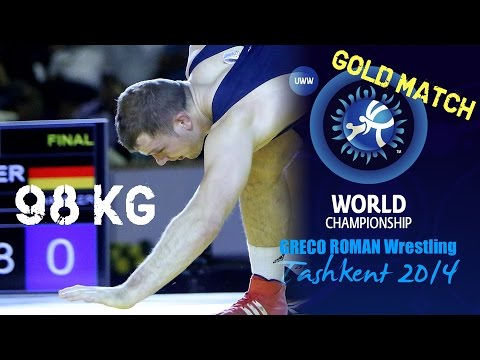Gold Match - Greco Roman Wrestling 98 Kg - A. ALEKSANYAN (ARM) Vs O. HASSLER (GER) - Tashkent 2014