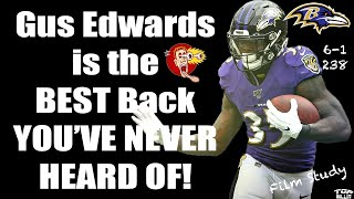 Why Ravens Cyborg Gus Edwards Is The Best Rb You Never Heard Of Film Study Youtube