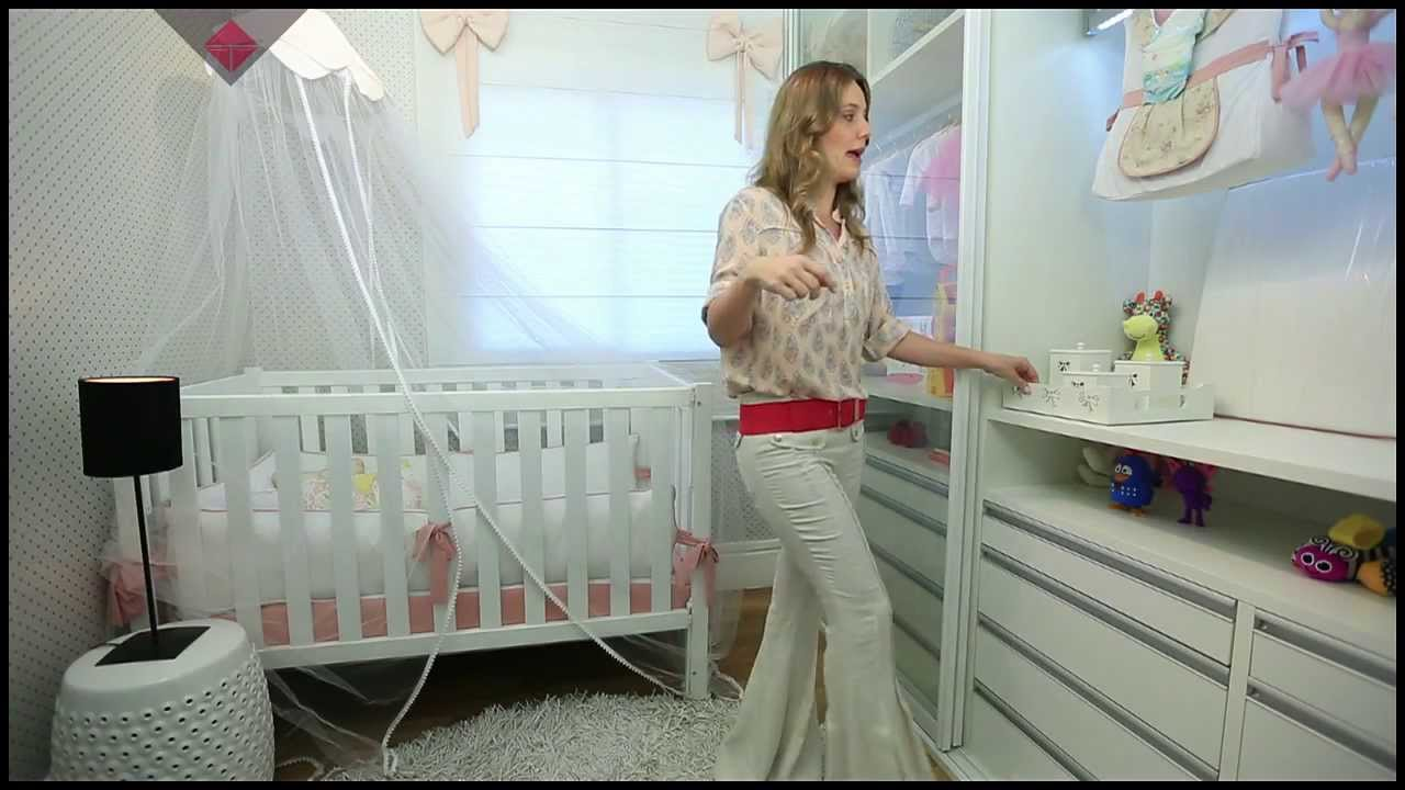 Tecnisa decor quarto de beb arm rio e papel de parede youtube - Armarios de bebe ...