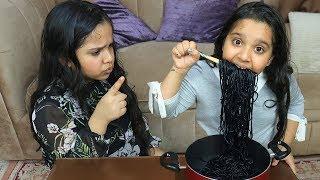 شفا تريد تأكل نودلز أسود !!