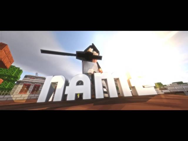FREE EPIC MINECRAFT INTRO! (C4D/AE)  300 LIKES FOR 60 FPS AND DL LINK