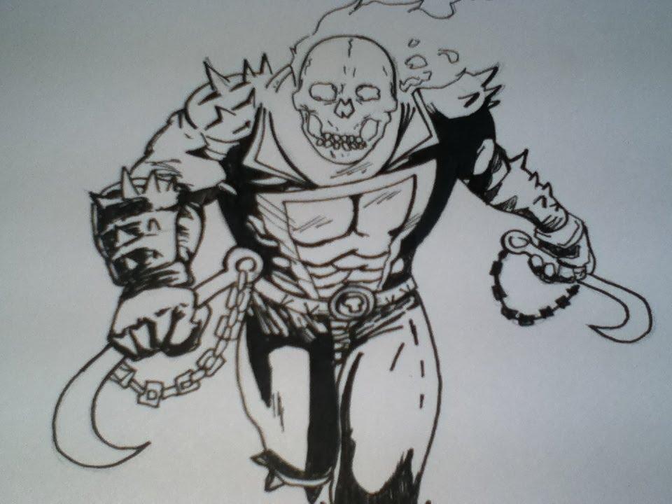Ghost Rider Drawings Easy 31174 Trendnet