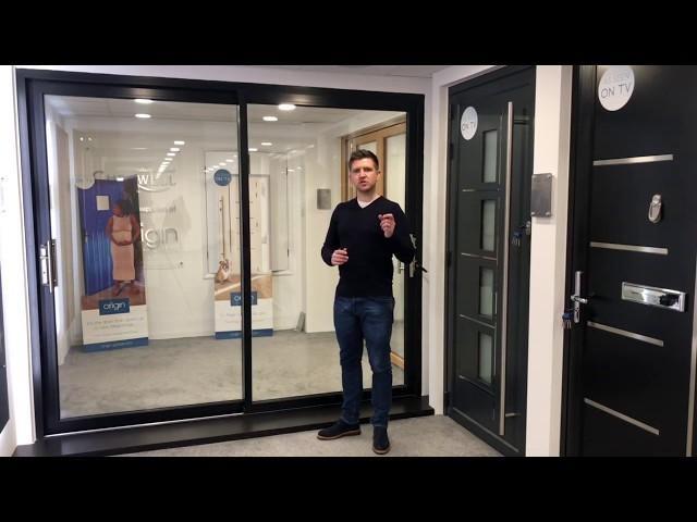 Cherwell Windows showroom tour - Origin Global Aluminium sliding door - 44mm