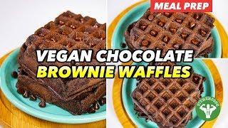 Breakfast Meal Prep - Vegan Chocolate Brownie Waffles