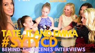 tate mcrae jt church emma hellenkamp interviewed backstage at sytycd the next generation