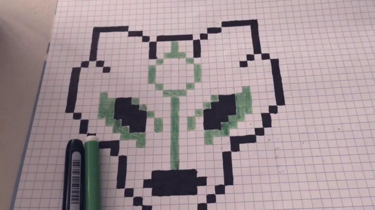 Dessiner Un Pixel Art De Loup Vert Dessine Moi 1 Youtube