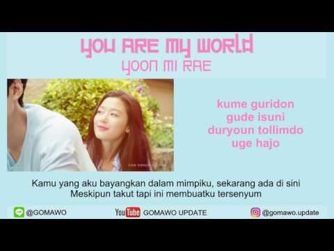 LIRIK YOON MI RAE - YOU ARE MY WORLD (OST. LEGEND OF BLUE SEA) [LIRIK KOREA, INDONESIA & MV]