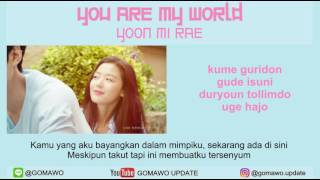 Download LIRIK YOON MI RAE - YOU ARE MY WORLD (OST. LEGEND OF BLUE SEA) [LIRIK KOREA, INDONESIA & MV] Mp3
