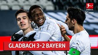Borussia Monchengladbach vs Bayern Munich (3-2) | Bundesliga Highlights