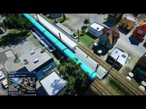 Big City's elevated train and metro/underground   Transport Fever