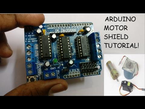 Arduino Tutorial: Using a Motor shield!