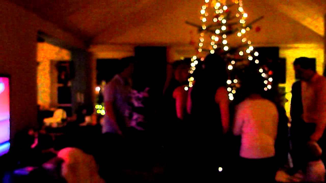 Exchange Student At Danish Christmas- Family Dancing