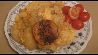 видео Запеченная картошка с яблоками