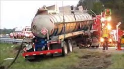 Tanker truck roll-over in Hebron,MD