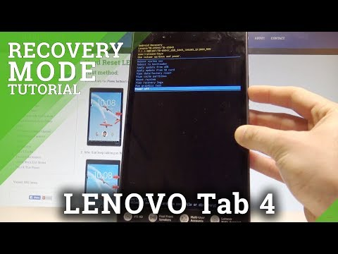 How To Enter Recovery Mode On LENOVO Tab 4 LTE - Exit Recovery Mode |HardReset.Info
