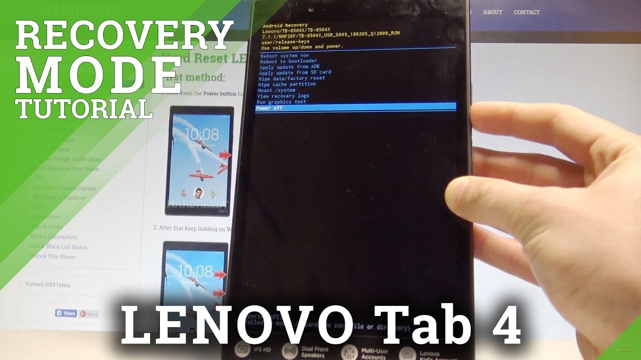 How to Enter Recovery Mode on LENOVO Tab 4 LTE - Exit Recovery Mode  |HardReset Info
