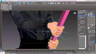 3DS Max - Tutorial:  Two Handed Object using a CAT Rig - Level: Intermediate