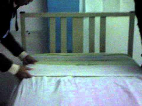 Tendido de cama en enfermeria cnet 4 youtube for Cama cerrada