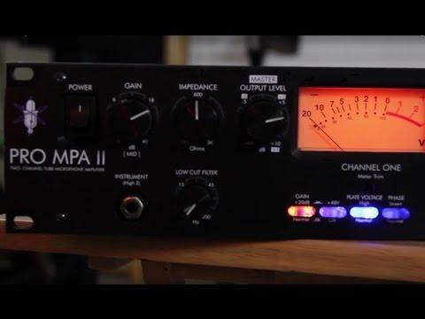 Art Pro MPA II Preamp Vocal Demo With Focusrite Scarlett