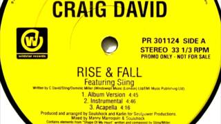 Craig David Feat Sting - Rise and Fall (Album version Instrumental)