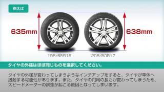 インチアップ、サイズ変更について|タイヤの基礎知識|ダンロップ