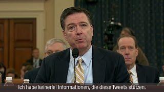 Comey im Geheimdienst-Ausschuss: FBI-Chef widerspricht Trump