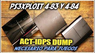 PS3Xploit 4.83-4.84 OFW Dump ACT/IDPS necesario para juegos | 2019