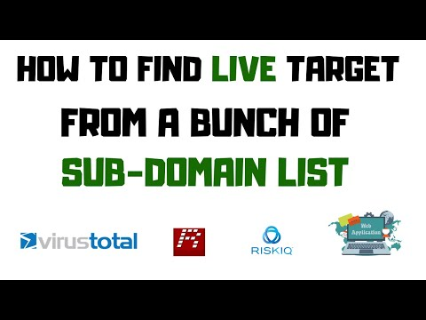 How To Find Live Domains From A Sub-domain List ?