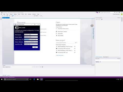 DNN 9 Series Video 15 - Skin/Theme project creation in Visual Studio 2017