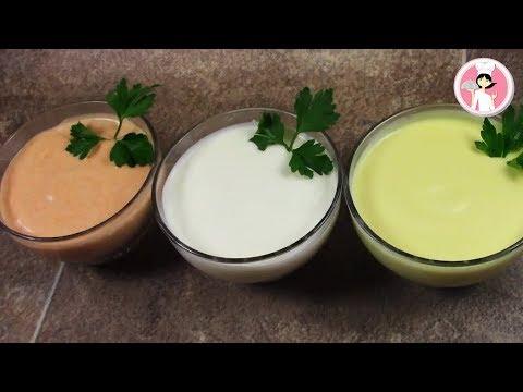 ثومية بدون بيض بطريقة المطاعم ب3 نكهات سهلة وسريعة صلصة الثومية مع رباح محمد ( الحلقة 233)