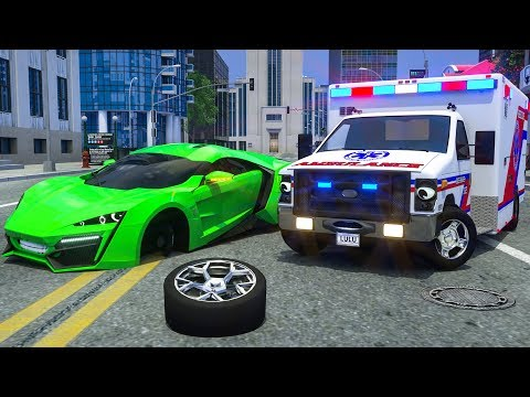 Garbage Truck, Ambulance Asks Help Sergeant Lucas the Police Car - Wheel City Heroes (WCH) Cartoon