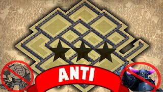 Clash of clans - Town hall 9 (th9) best Anti 3 Star war base with 2 Air Sweepers