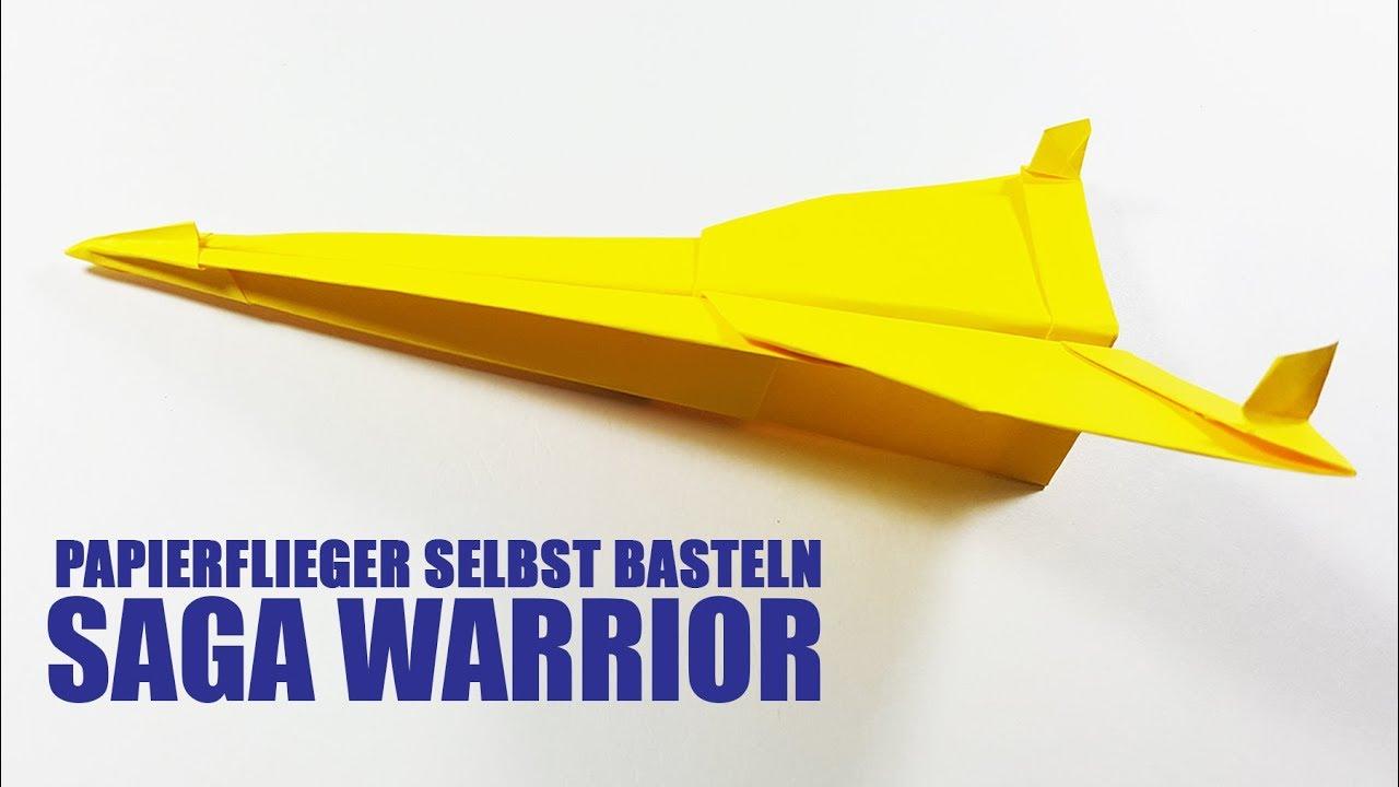 papierflieger selbst basteln papierflugzeug falten beste origami flugzeug saga youtube. Black Bedroom Furniture Sets. Home Design Ideas
