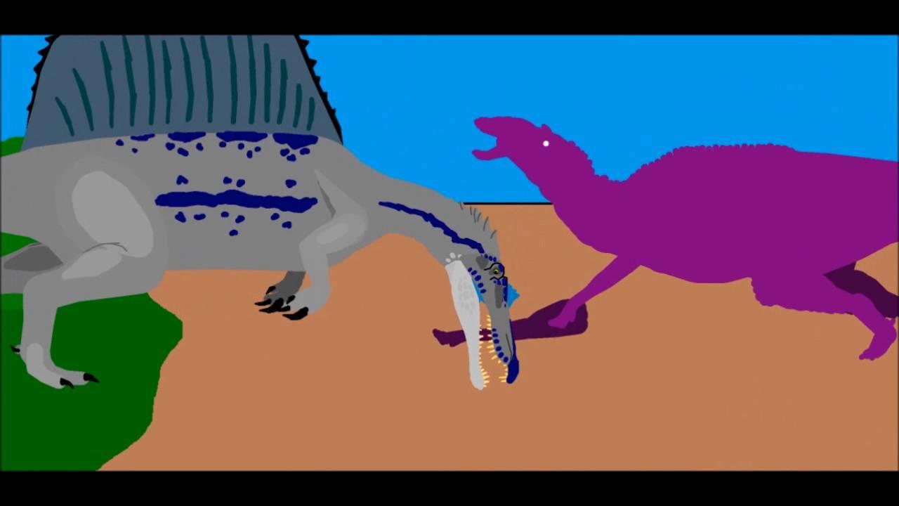 Spinosaurus vs Shantungosaurus Resounded - YouTube
