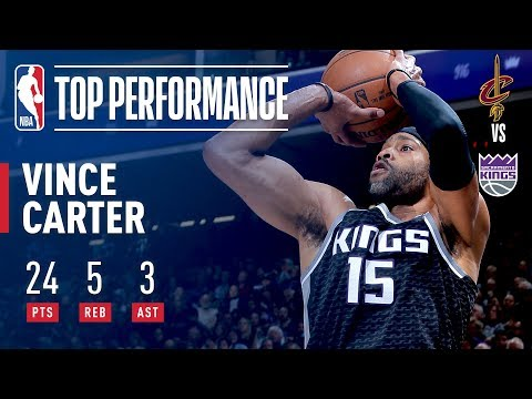 Vince Carter Scores 24 Pts (10-12 FG) in Win vs. Cavs | December 27, 2017
