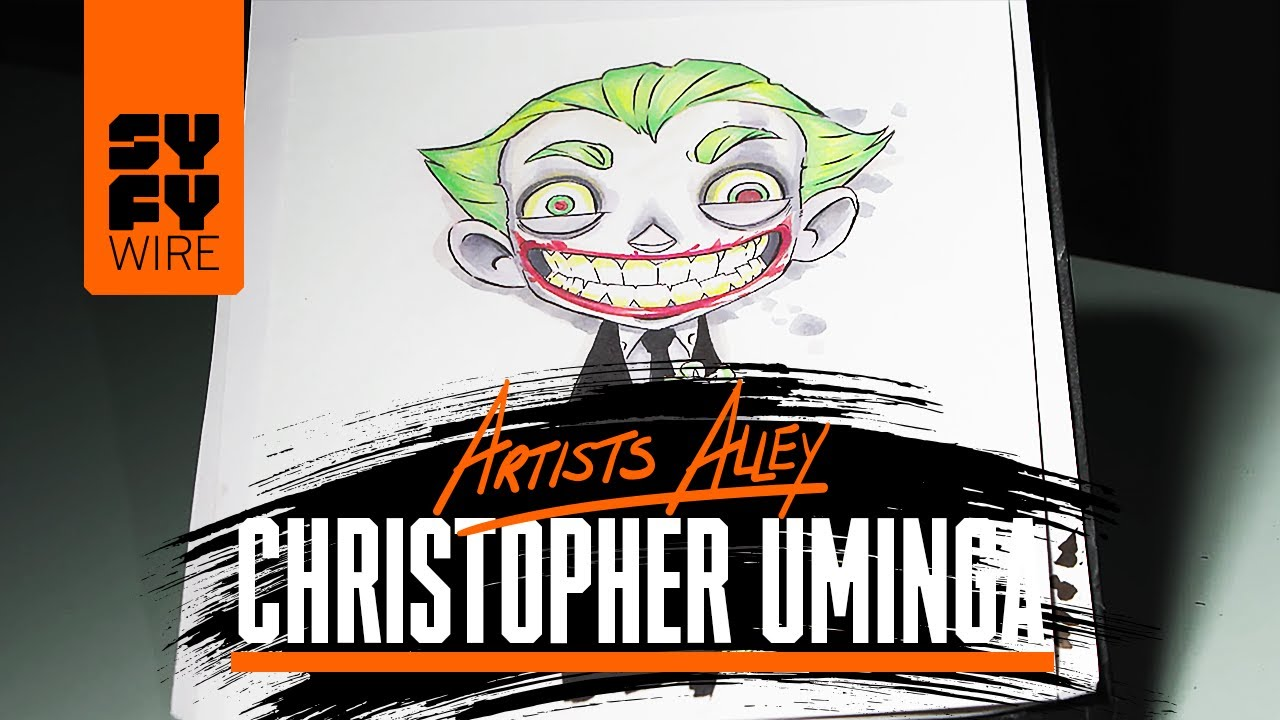 Christopher Uminga Sketches The Joker (Artist Alley) | SYFY WIRE ...