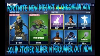 FORTNITE NEW DIECAST N CHROMIUM SKIN N SOLID STRIDER GLIDER N PERSUADER AXE OUT NOW