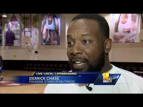 Video: Stand Up Baltimore hosts basketball game