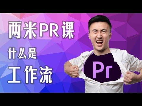 两米青年教你简单学Premiere电脑剪辑软件001:新手剪辑工作流与实操教学!
