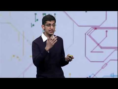 Sundar Pichai as VP of Product Management at Google I O 2010
