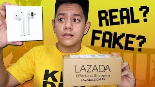 Gambar cover Airpods from LAZADA (IS IT FAKE?) || Jayce Mars