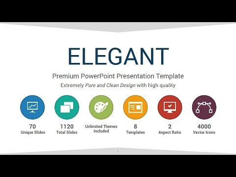Elegant powerpoint presentation template youtube elegant powerpoint presentation template toneelgroepblik Image collections