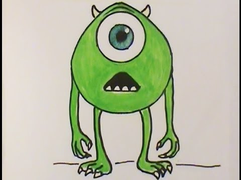 draw mike from monsters inc way cool easy lesson youtube